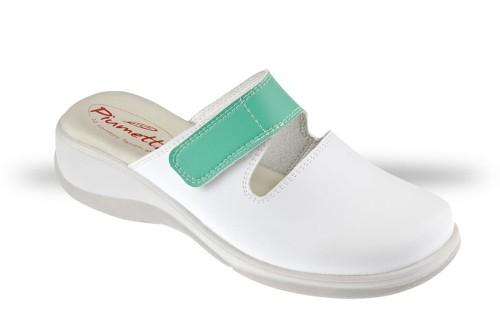 3a79bef2bd43a Saboty Damskie Piumetta 3184 białe - chodaki, buty robocze i ...